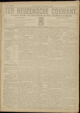 Ter Neuzensche Courant. Algemeen Nieuws- en Advertentieblad voor Zeeuwsch-Vlaanderen / Neuzensche Courant ... (idem) / (Algemeen) nieuws en advertentieblad voor Zeeuwsch-Vlaanderen 1918-10-17