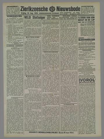 Zierikzeesche Nieuwsbode 1934-08-24