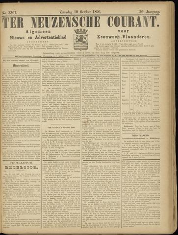 Ter Neuzensche Courant. Algemeen Nieuws- en Advertentieblad voor Zeeuwsch-Vlaanderen / Neuzensche Courant ... (idem) / (Algemeen) nieuws en advertentieblad voor Zeeuwsch-Vlaanderen 1896-10-10