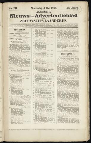 Ter Neuzensche Courant. Algemeen Nieuws- en Advertentieblad voor Zeeuwsch-Vlaanderen / Neuzensche Courant ... (idem) / (Algemeen) nieuws en advertentieblad voor Zeeuwsch-Vlaanderen 1865-05-03