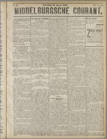 Middelburgsche Courant 1922-04-25