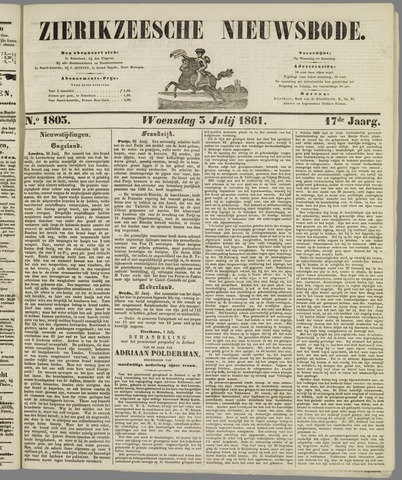 Zierikzeesche Nieuwsbode 1861-07-03