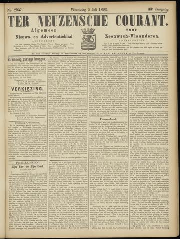 Ter Neuzensche Courant. Algemeen Nieuws- en Advertentieblad voor Zeeuwsch-Vlaanderen / Neuzensche Courant ... (idem) / (Algemeen) nieuws en advertentieblad voor Zeeuwsch-Vlaanderen 1893-07-05