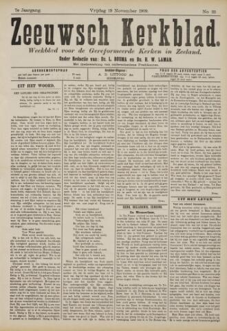 Zeeuwsche kerkbode, weekblad gewijd aan de belangen der gereformeerde kerken/ Zeeuwsch kerkblad 1909-11-19