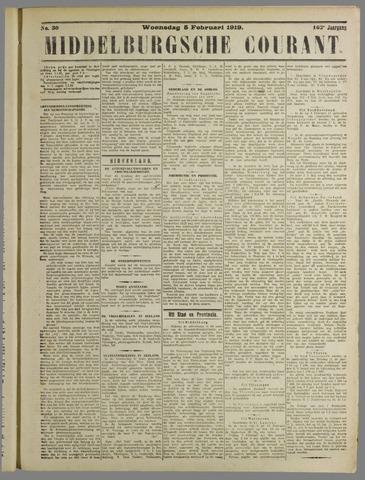 Middelburgsche Courant 1919-02-05