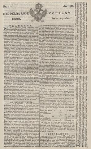 Middelburgsche Courant 1762-09-11