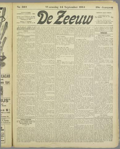 De Zeeuw. Christelijk-historisch nieuwsblad voor Zeeland 1924-09-24