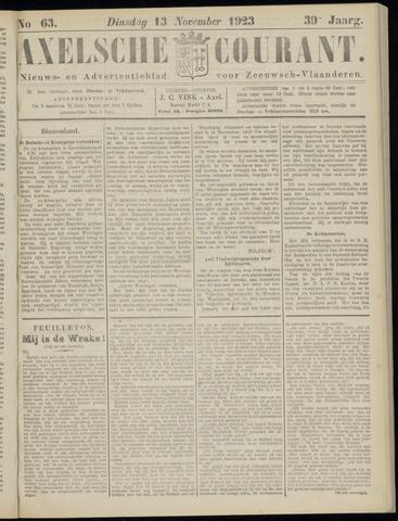 Axelsche Courant 1923-11-13