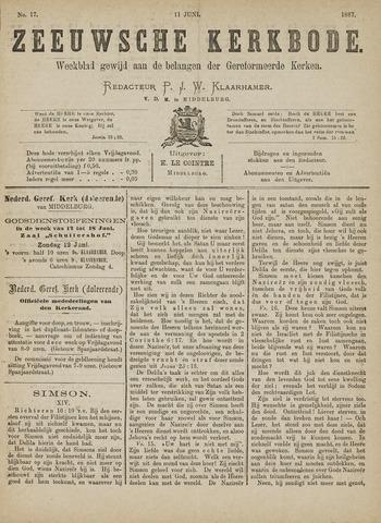 Zeeuwsche kerkbode, weekblad gewijd aan de belangen der gereformeerde kerken/ Zeeuwsch kerkblad 1887-06-11
