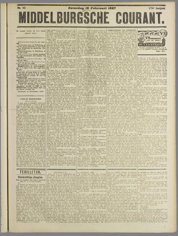 Middelburgsche Courant 1927-02-19
