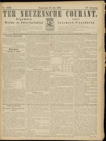 Ter Neuzensche Courant. Algemeen Nieuws- en Advertentieblad voor Zeeuwsch-Vlaanderen / Neuzensche Courant ... (idem) / (Algemeen) nieuws en advertentieblad voor Zeeuwsch-Vlaanderen 1907-07-18