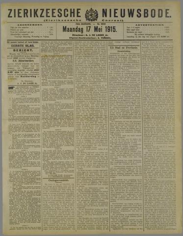 Zierikzeesche Nieuwsbode 1915-05-17
