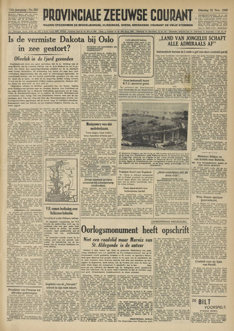 Provinciale Zeeuwse Courant 1949-11-22