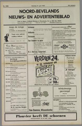 Noord-Bevelands Nieuws- en advertentieblad 1962-04-21