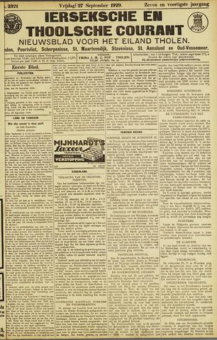 Ierseksche en Thoolsche Courant 1929-09-27