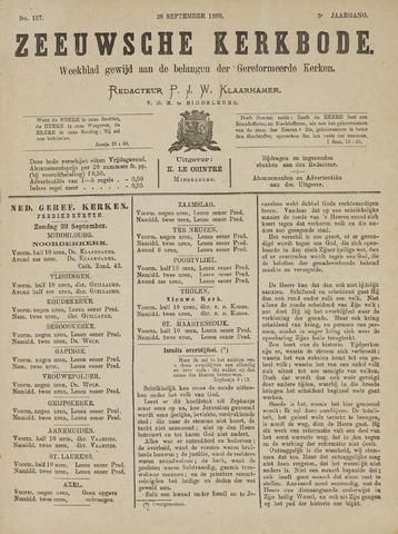 Zeeuwsche kerkbode, weekblad gewijd aan de belangen der gereformeerde kerken/ Zeeuwsch kerkblad 1889-09-28