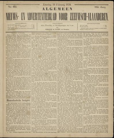 Ter Neuzensche Courant. Algemeen Nieuws- en Advertentieblad voor Zeeuwsch-Vlaanderen / Neuzensche Courant ... (idem) / (Algemeen) nieuws en advertentieblad voor Zeeuwsch-Vlaanderen 1870-02-19