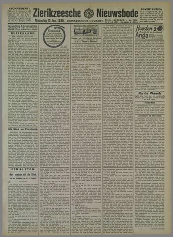 Zierikzeesche Nieuwsbode 1930-01-13