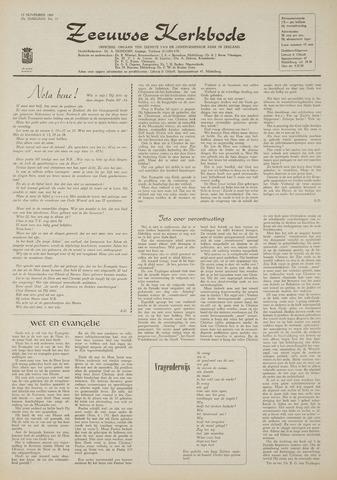 Zeeuwsche kerkbode, weekblad gewijd aan de belangen der gereformeerde kerken/ Zeeuwsch kerkblad 1969-11-13