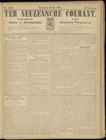 Ter Neuzensche Courant. Algemeen Nieuws- en Advertentieblad voor Zeeuwsch-Vlaanderen / Neuzensche Courant ... (idem) / (Algemeen) nieuws en advertentieblad voor Zeeuwsch-Vlaanderen 1897-05-20