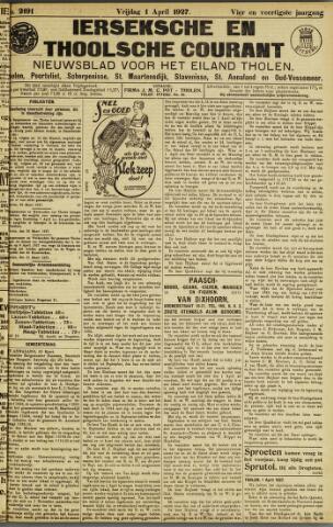 Ierseksche en Thoolsche Courant 1927-04-01