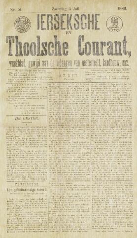 Ierseksche en Thoolsche Courant 1886-07-03