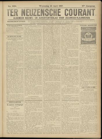 Ter Neuzensche Courant. Algemeen Nieuws- en Advertentieblad voor Zeeuwsch-Vlaanderen / Neuzensche Courant ... (idem) / (Algemeen) nieuws en advertentieblad voor Zeeuwsch-Vlaanderen 1927-04-20
