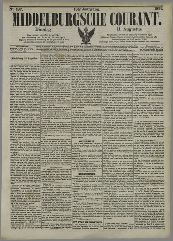Middelburgsche Courant 1891-08-11