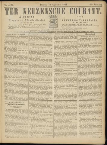 Ter Neuzensche Courant. Algemeen Nieuws- en Advertentieblad voor Zeeuwsch-Vlaanderen / Neuzensche Courant ... (idem) / (Algemeen) nieuws en advertentieblad voor Zeeuwsch-Vlaanderen 1901-09-10