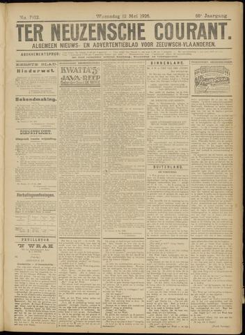 Ter Neuzensche Courant. Algemeen Nieuws- en Advertentieblad voor Zeeuwsch-Vlaanderen / Neuzensche Courant ... (idem) / (Algemeen) nieuws en advertentieblad voor Zeeuwsch-Vlaanderen 1926-05-12