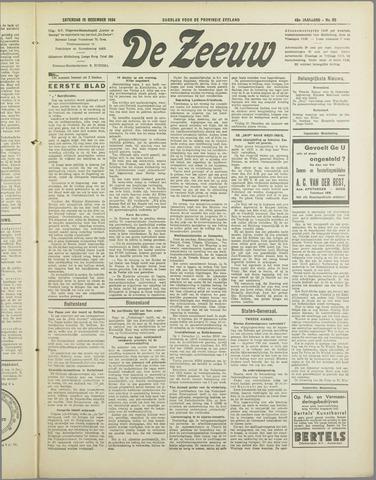 De Zeeuw. Christelijk-historisch nieuwsblad voor Zeeland 1934-12-15