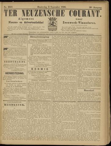 Ter Neuzensche Courant. Algemeen Nieuws- en Advertentieblad voor Zeeuwsch-Vlaanderen / Neuzensche Courant ... (idem) / (Algemeen) nieuws en advertentieblad voor Zeeuwsch-Vlaanderen 1896-09-03