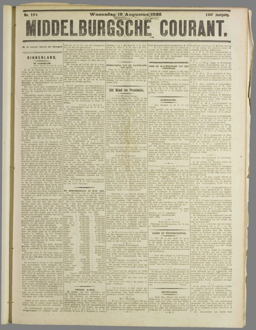 Middelburgsche Courant 1925-08-19