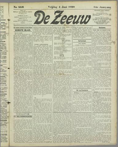 De Zeeuw. Christelijk-historisch nieuwsblad voor Zeeland 1920-06-04