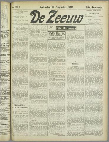 De Zeeuw. Christelijk-historisch nieuwsblad voor Zeeland 1921-08-13