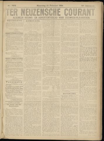 Ter Neuzensche Courant. Algemeen Nieuws- en Advertentieblad voor Zeeuwsch-Vlaanderen / Neuzensche Courant ... (idem) / (Algemeen) nieuws en advertentieblad voor Zeeuwsch-Vlaanderen 1924-02-25