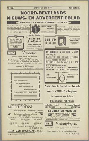 Noord-Bevelands Nieuws- en advertentieblad 1936-06-27