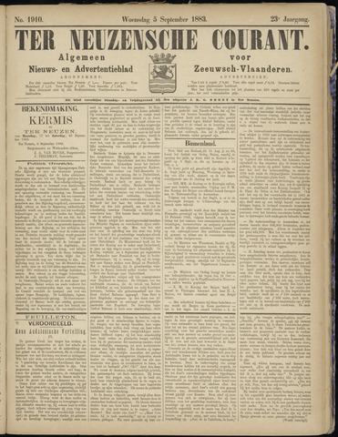 Ter Neuzensche Courant. Algemeen Nieuws- en Advertentieblad voor Zeeuwsch-Vlaanderen / Neuzensche Courant ... (idem) / (Algemeen) nieuws en advertentieblad voor Zeeuwsch-Vlaanderen 1883-09-05