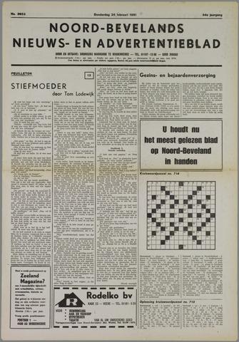 Noord-Bevelands Nieuws- en advertentieblad 1981-02-25