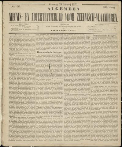 Ter Neuzensche Courant. Algemeen Nieuws- en Advertentieblad voor Zeeuwsch-Vlaanderen / Neuzensche Courant ... (idem) / (Algemeen) nieuws en advertentieblad voor Zeeuwsch-Vlaanderen 1870-01-29