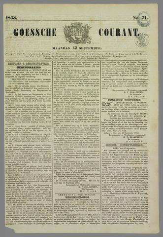 Goessche Courant 1853-09-12