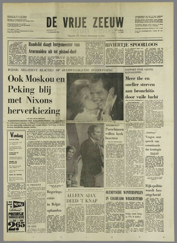 de Vrije Zeeuw 1972-11-09