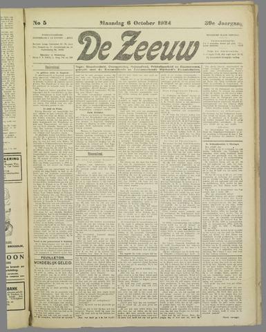 De Zeeuw. Christelijk-historisch nieuwsblad voor Zeeland 1924-10-06