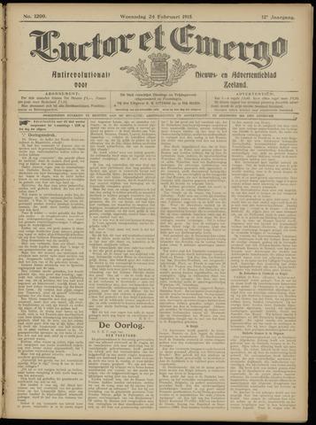 Luctor et Emergo. Antirevolutionair nieuws- en advertentieblad voor Zeeland / Zeeuwsch-Vlaanderen. Orgaan ter verspreiding van de christelijke beginselen in Zeeuwsch-Vlaanderen 1915-02-24