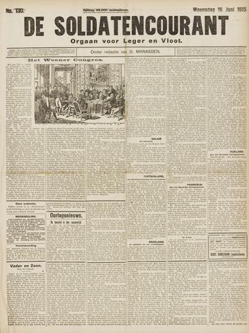 De Soldatencourant. Orgaan voor Leger en Vloot 1915-06-16