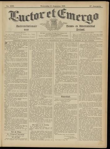 Luctor et Emergo. Antirevolutionair nieuws- en advertentieblad voor Zeeland / Zeeuwsch-Vlaanderen. Orgaan ter verspreiding van de christelijke beginselen in Zeeuwsch-Vlaanderen 1915-08-11