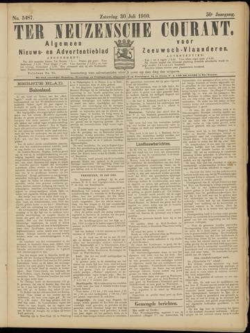 Ter Neuzensche Courant. Algemeen Nieuws- en Advertentieblad voor Zeeuwsch-Vlaanderen / Neuzensche Courant ... (idem) / (Algemeen) nieuws en advertentieblad voor Zeeuwsch-Vlaanderen 1910-07-30