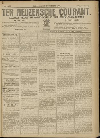 Ter Neuzensche Courant. Algemeen Nieuws- en Advertentieblad voor Zeeuwsch-Vlaanderen / Neuzensche Courant ... (idem) / (Algemeen) nieuws en advertentieblad voor Zeeuwsch-Vlaanderen 1914-09-10