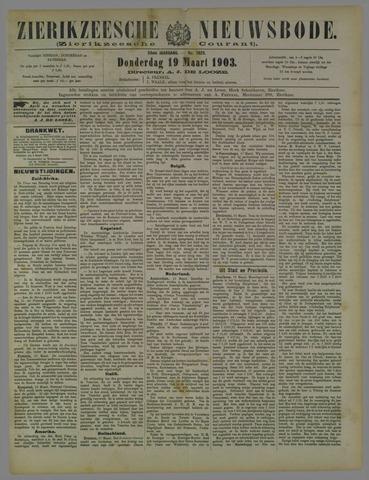 Zierikzeesche Nieuwsbode 1903-03-19
