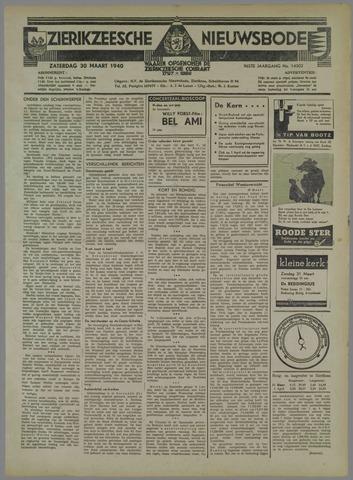 Zierikzeesche Nieuwsbode 1940-03-30